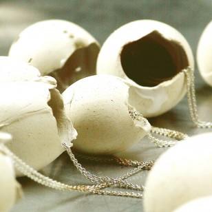 Silver, gold, rubber, ceramic