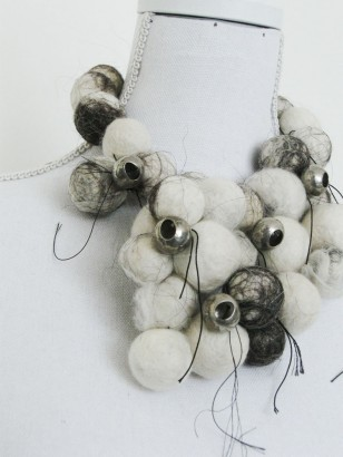 Silver, thread and wool