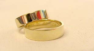 14krt yellow gold, princess diamond